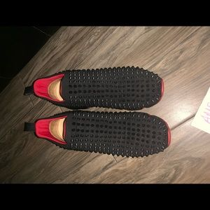 Red Bottoms With Spike Sock